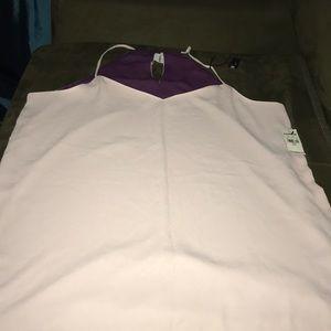 NWT purple/lavender reversible tank large